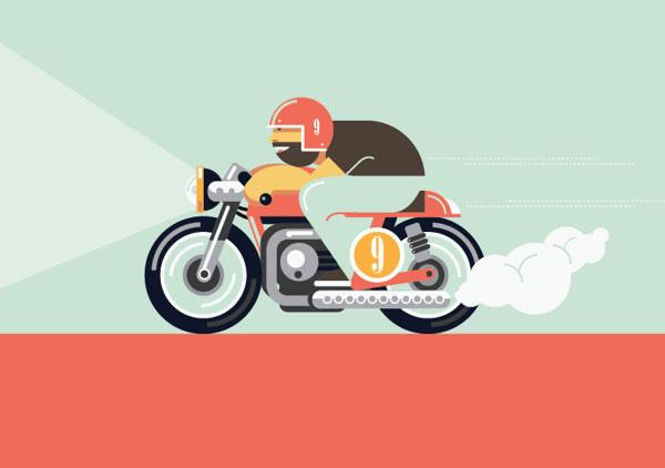 Cafe Racing Illustration by Dylan Jones