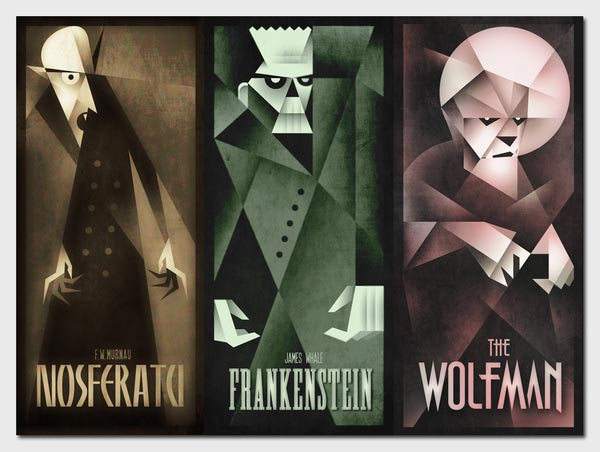 Classic Monsters - Poster Illustrations by Szoki