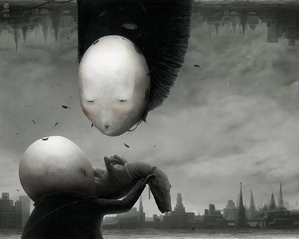 Creepy Illustration by Anton Semenov