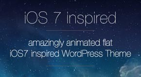 De7igner - Flat iOS7 Inspired OnePage WordPress Theme