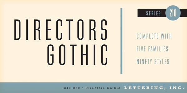 Directors Gothic - Font Family