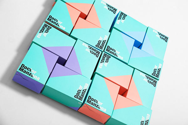 Doctor Manzana Packaging by Masquespacio