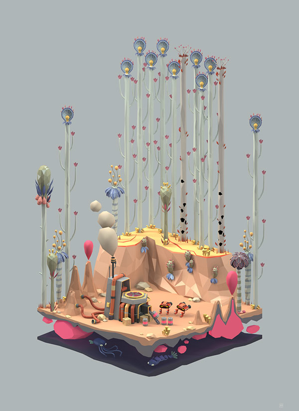 Ecology Series – 3D Illustrations by Erwin Kho