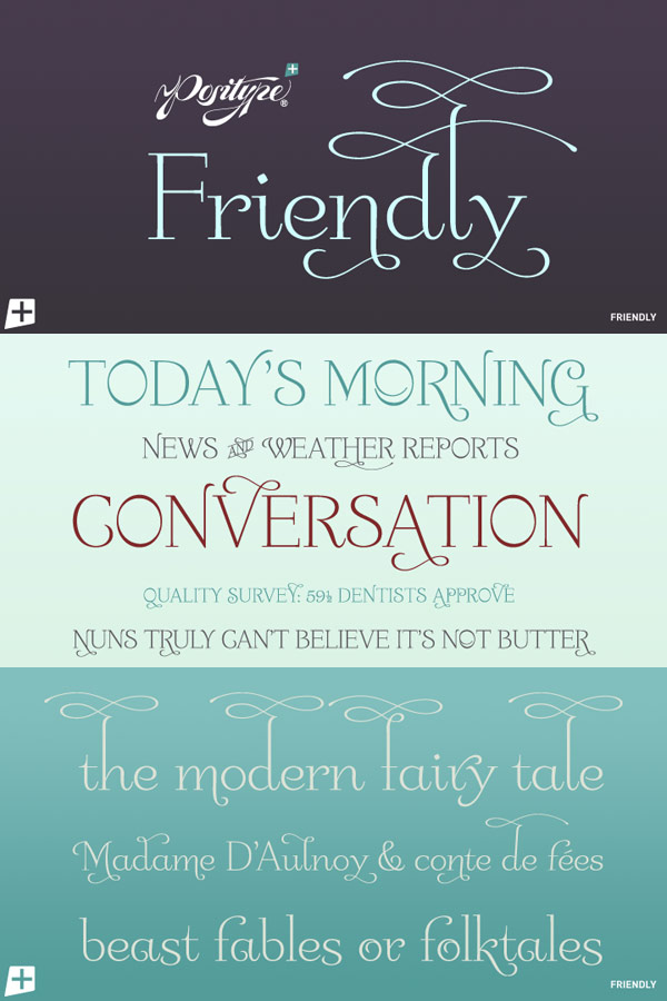 Friendly Font by Positype