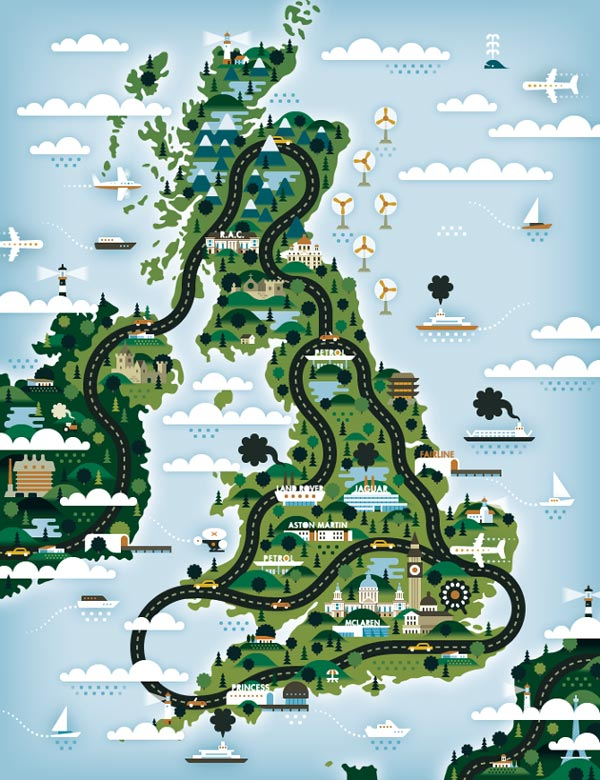 The Good Life Magazine – Map Illustrations by KHUAN+KTRON