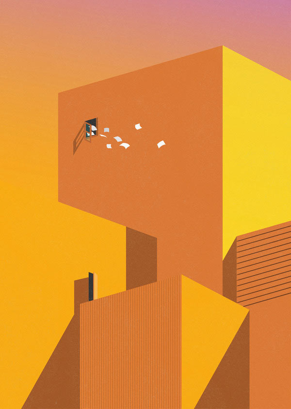 Home bitter home - Minimalist Illustration by Ray Oranges