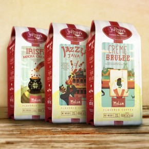 Joffreys Coffee and Tea Company - Packaging Illustrations