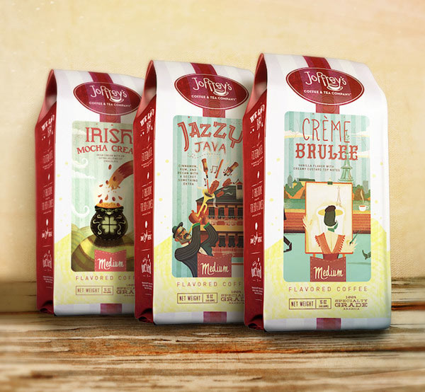 Joffreys Coffee and Tea Company – Packaging Illustrations