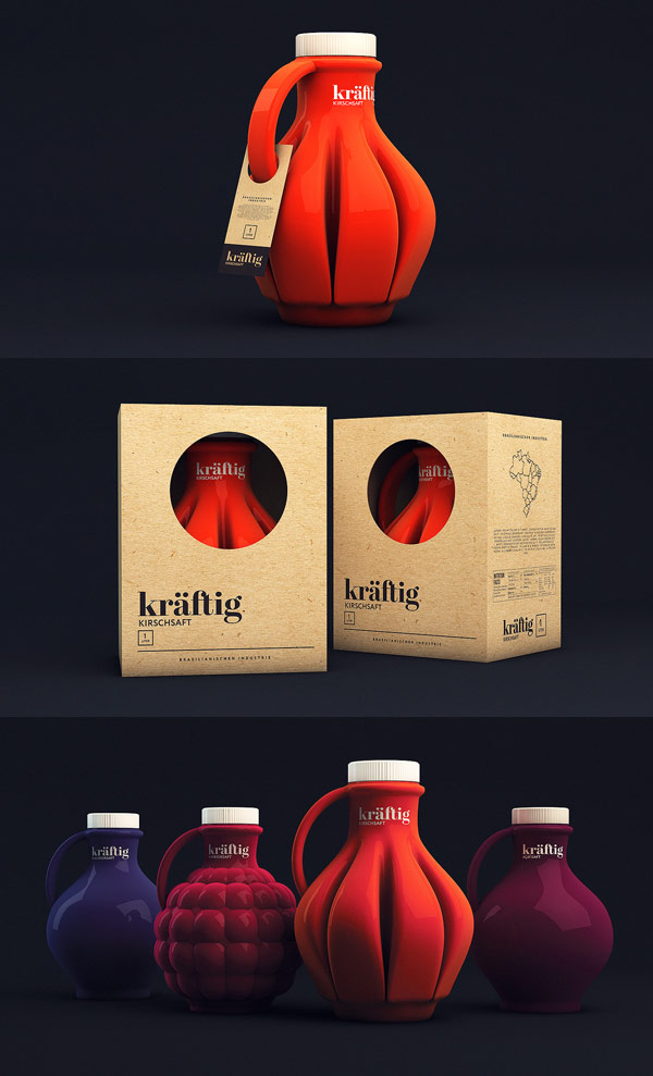 Kräftig Packaging Design by Isabela Rodrigues - Sweety Branding Studio