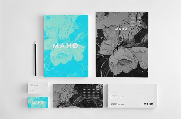 M A H O - Shawl Fashion Brand Identity by Krzysztof Zdunkiewicz