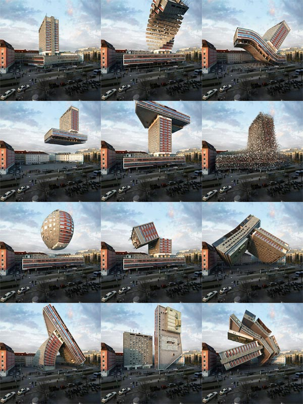 NHDK - Deconstruct and Reconstruct Photo Manipulations of the same Building by Víctor Enrich
