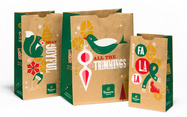 Panera 2013 Holiday Packaging by Willoughby Design