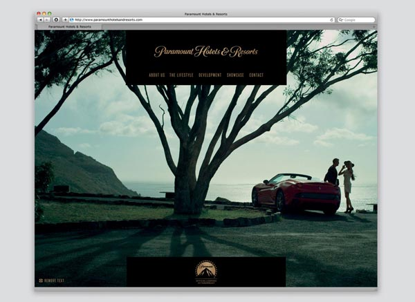 Paramount Hotels & Resorts -Web Design by & SMITH