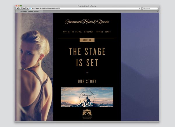 Paramount Hotels & Resorts - Website Design by & SMITH