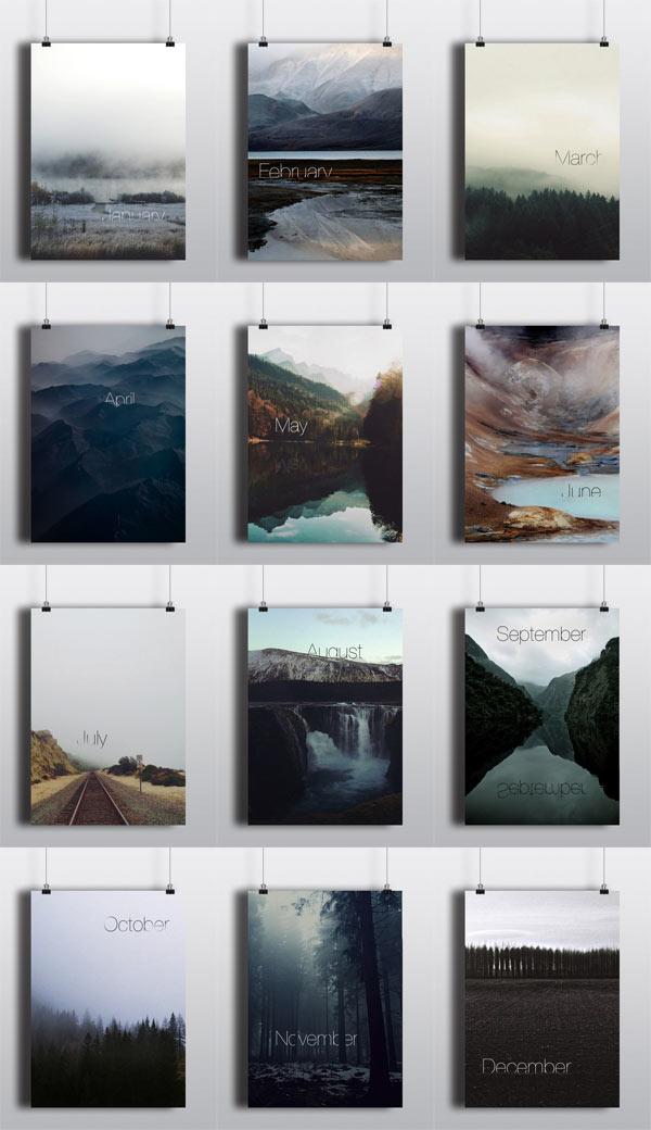 Calendar Poster Design : Perpetual calendar poster series by arina pozdnyak