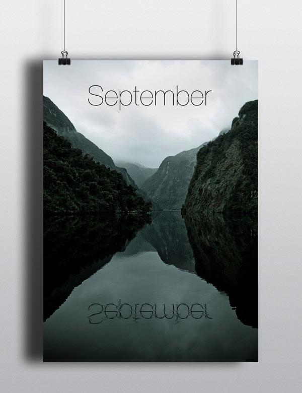 Perpetual Calendar - September - Poster Series by Arina Pozdnyak