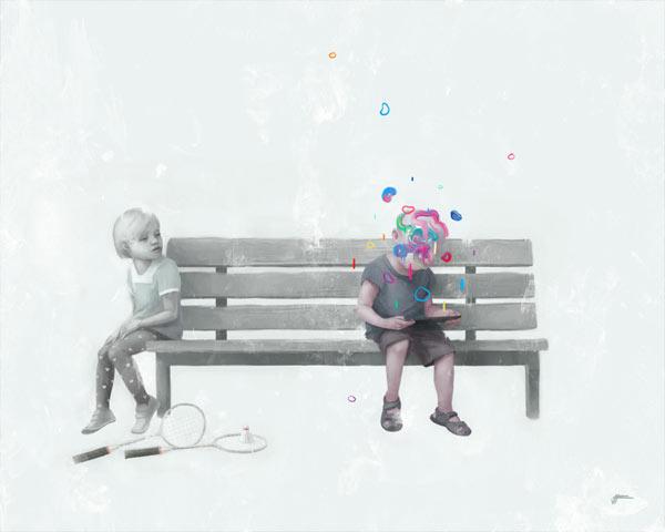 Playtime - Illustration by Valentin Fischer