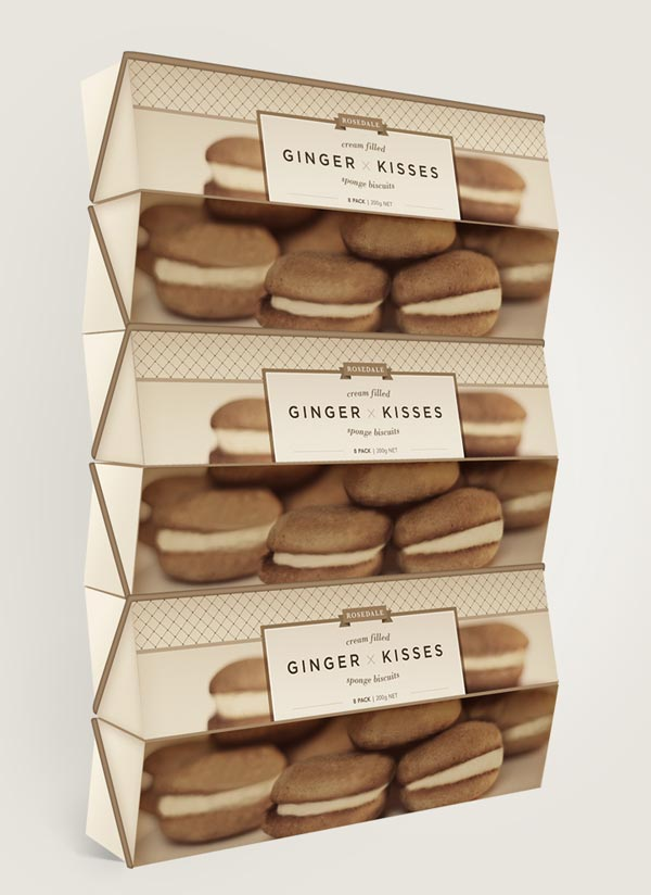 Rebranding by Veronica Cordero of the Ginger Kisses Packaging
