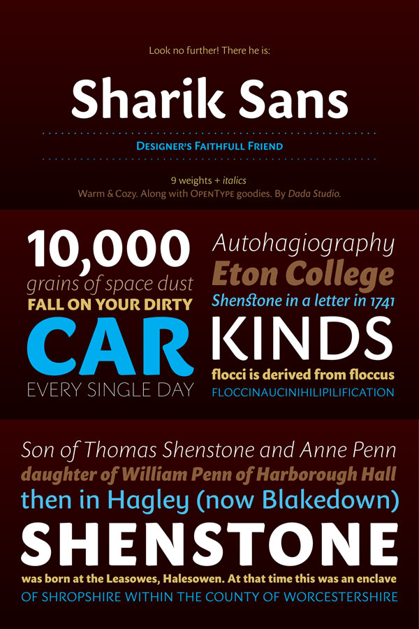Sharik Sans - warm and gentle font family by Dada Studio