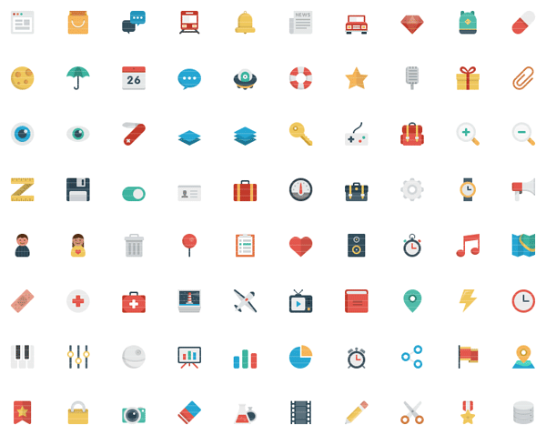 Smallicons – a Big and Flat Set of Small Icons