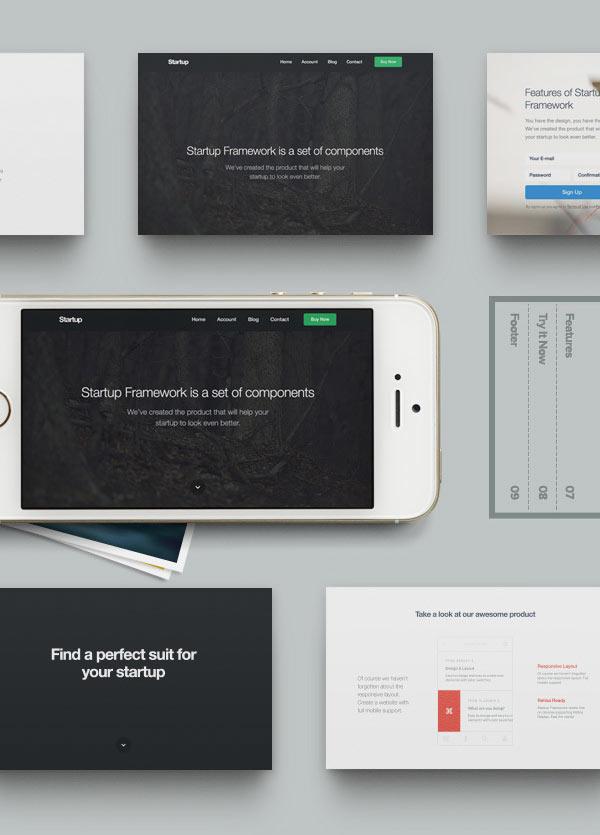 Designmodo - Startup Design Framework 1.1 | Biz Tutorials ...