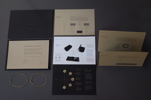Zenith Premium Travel Kits - Communication Design by Veronica Cordero