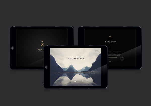 Zenith Premium Travel Kits - Web Design by Veronica Cordero