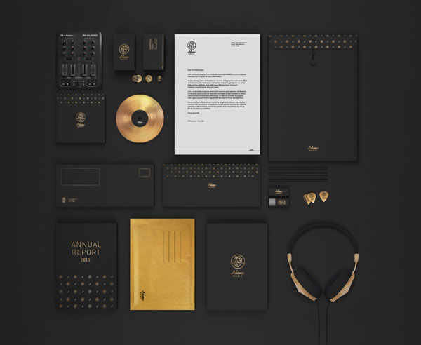 Adamo Music – Corporate Identity by Martine Strøm