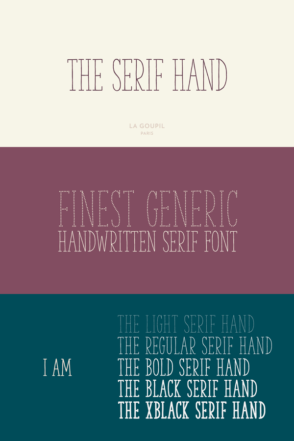 The Serif Hand by La Goupil Paris