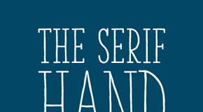The Serif Hand is a handwritten font from La Goupil Paris