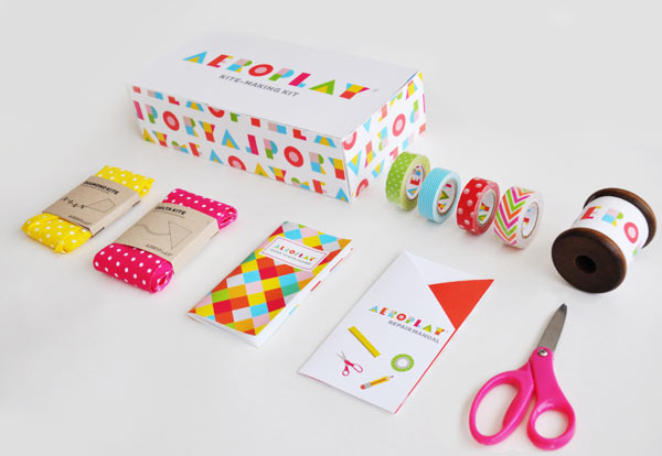 Aeroplay Kites - do-it-yourself kite packaging by Lily Li
