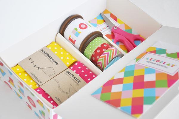 Aeroplay Kites - kite packaging by Lily Li