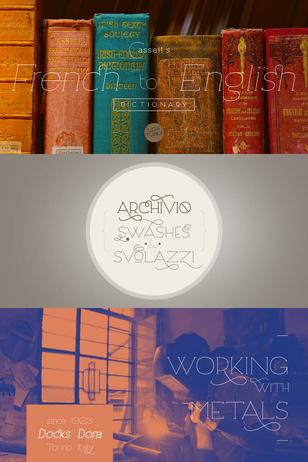 Archivio Font Family by Resistenza