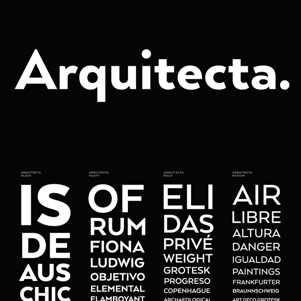 Arquitecta humanist font family by Latinotype