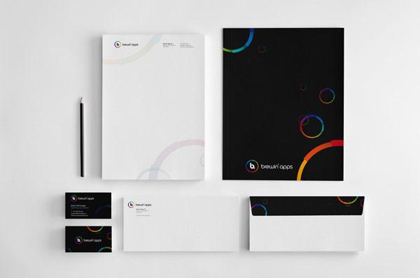 Brewin' apps - Stationery Design by Dora Klimczyk