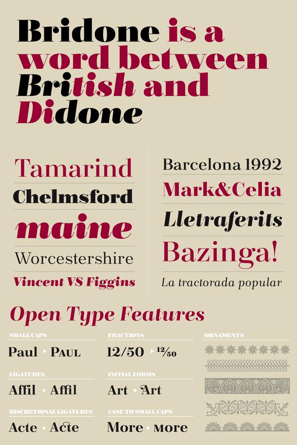 Bridone - British and Didone Typeface Design