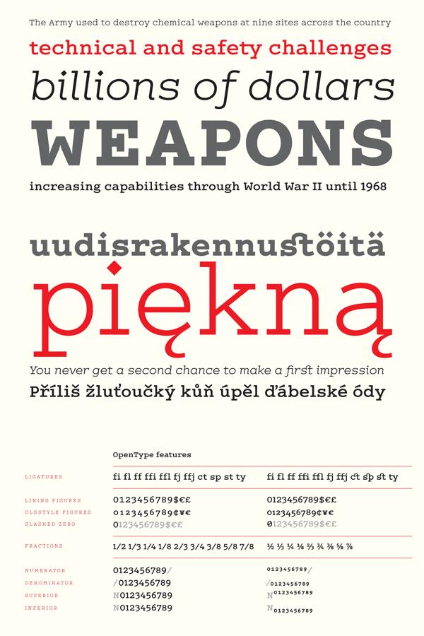 COLÓN slab serif typeface