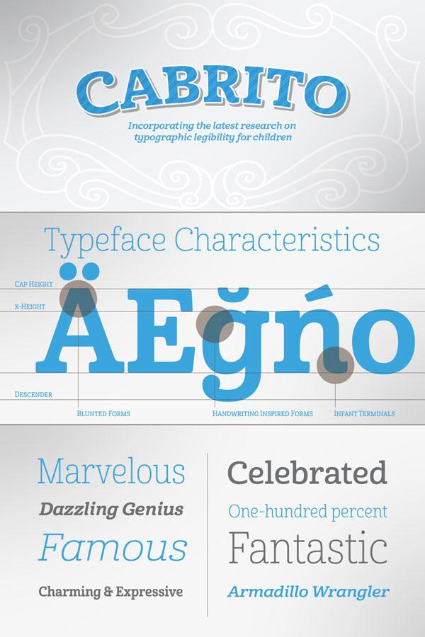 Cabrito serif font family by Jeremy Dooley