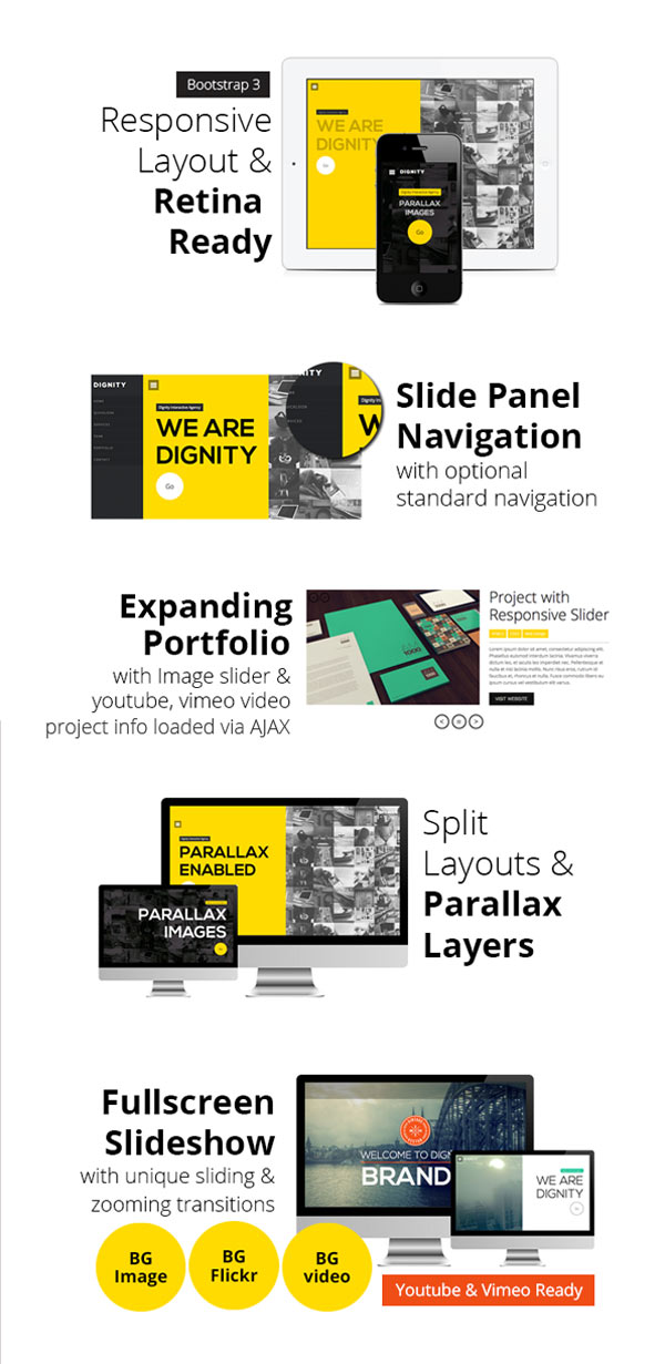 DIGNITY – One Page WordPress Theme