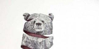 Emptyland - ribbon effect animal drawing by Jaume Montserrat