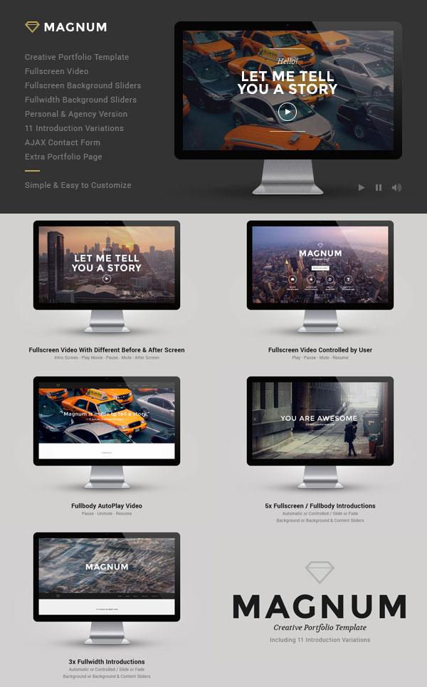Magnum Website Template