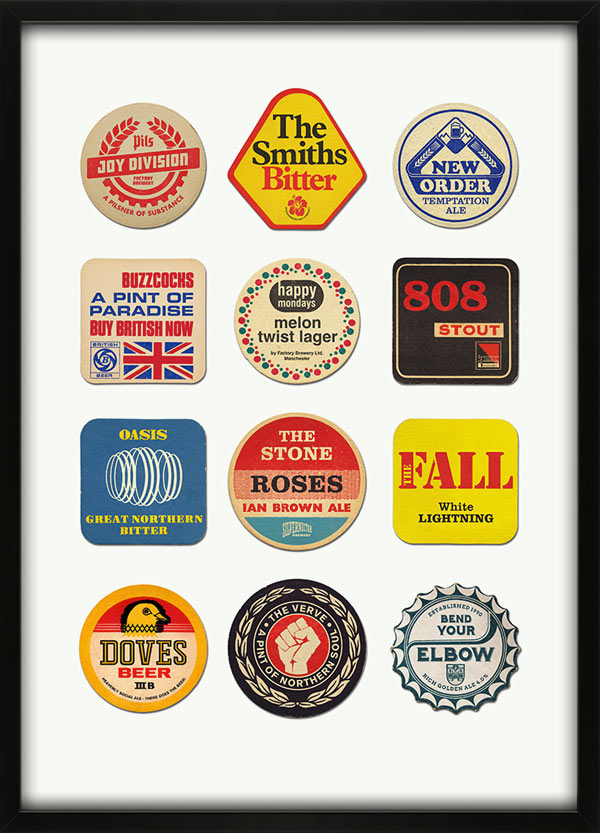 Beer Mat Prints by 67 Inc