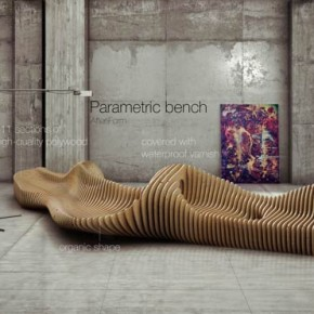 Parametric Bench - Interior Design by Oleg Soroko
