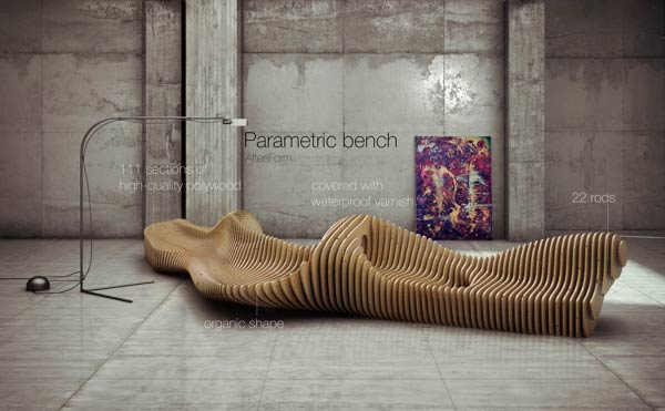 Parametric Bench Interior Design By Oleg Soroko