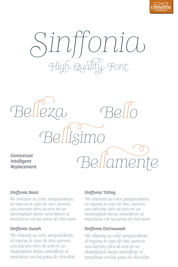 Sinffonia – Font Family by Corradine Fonts