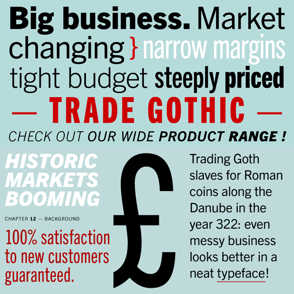 Trade Gothic Font Family by Linotype