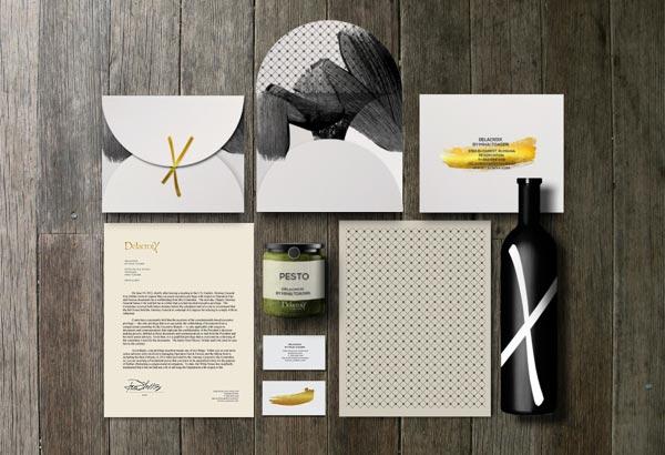 Delacroix gourmet restaurant branding by mbranding