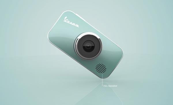 Vespa Cam - Industrial Design Concept by Rotimi Solola and Cait Miklasz