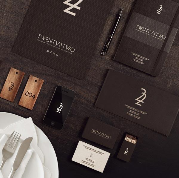 22 Restaurant Branding by Dmitry Gerais
