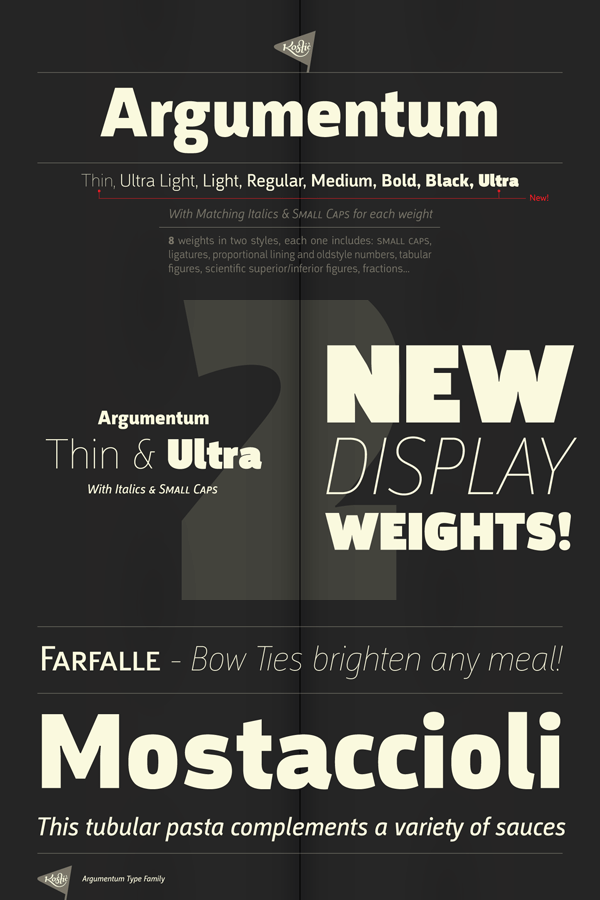 Argumentum Font Family from Kostic